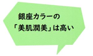 銀座 カラー 神田 町 店 口コミ