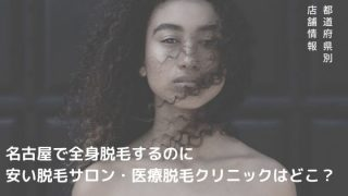 名古屋(栄)で全身脱毛するのに安い脱毛サロン・医療脱毛クリニックはどこ?【最新版】